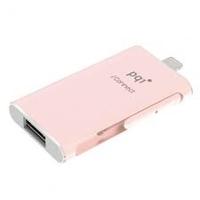 PQI - 128GB iConnect USB 3.0/Lightning Pink USB Flash Drive - Cover
