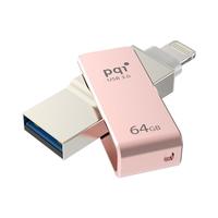 PQI - 64GB iConnect mini USB 3.0/Lightning Silver USB Flash Drive - Cover