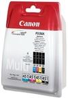 Canon CLi-451 Bk/C/M/Y Multipack Ink Cartridge