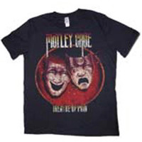 Motley Crue Theatre of Pain Puff Print T-Shirt (X-Large) - Cover