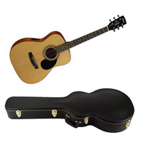 Cort AF510E OP Standard Series Folk Acoustic Electric Guitar with Hard Case (Open Pore Natural) - Cover