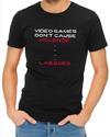 Video Game Violence Mens T-Shirt Black (XXX-Large)