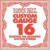 Ernie Ball 1016 .016 Plain Steel Single String
