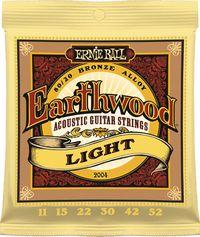 Ernie Ball 2004 Earthwood Light 80/20 Bronze Acoustic Guitar Strings - Cover
