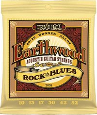 Ernie Ball 2008 Earthwood Rock and Blues 80/20 Bronze Acoustic Guitar Strings with Plain G - Cover