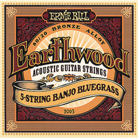 Ernie Ball 2063 Earthwood 80/20 5 String Banjo Bluegrass Loop End Strings - Cover