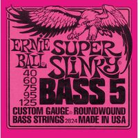 Ernie Ball 2824 Super Slinky 40-125 Nickel Wound 5 String Bass Guitar Strings - Cover