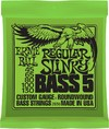 Ernie Ball 2836 Regular Slinky 45-130 5 String Nickel Wound Bass Guitar Strings
