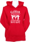 I Am a Gamer Womens Hoodie Red (Medium)
