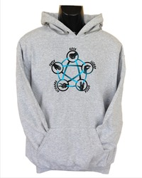 Rock Paper Scissors Lizard Spock Womens Hoodie Grey (Small) - Cover