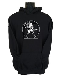 Vitruvian Guitar Man Mens Hoodie Black (Medium) - Cover