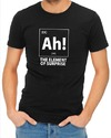 Ah! the Element of Surprise Mens T-Shirt Black (X-Large)