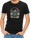 Feed the Zombies Mens T-Shirt Black (X-Large)