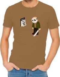Friday the 12th Mens T-Shirt Khaki (Large) - Cover