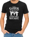 I Am a Gamer Womens T-Shirt Black (Medium)