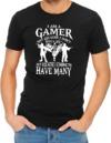I Am a Gamer Mens T-Shirt Black (Small)