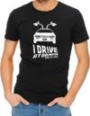 I Drive At 88mph Mens T-Shirt Black (X-Large)