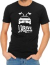 I Drive At 88mph Mens T-Shirt Black (XXX-Large)