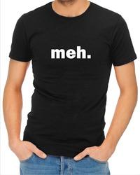 Meh Mens T-Shirt Black (Medium) - Cover