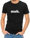 Meh Mens T-Shirt Black (Medium)