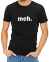Meh Mens T-Shirt Black (X-Large)
