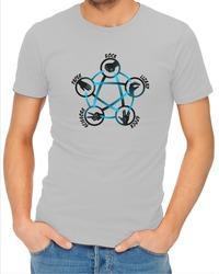 Rock Paper Scissors Lizard Spock Mens T-Shirt Grey (X-Large) - Cover