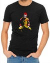 Ronald Mcdonald Joker Mens T-Shirt Black (X-Large)