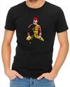 Ronald Mcdonald Joker Mens T-Shirt Black (X-Large)