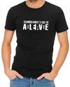 Schrodinger's Cat Mens T-Shirt Black (Medium)