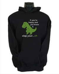 If You're Happy Mens Hoodie Black (Small) - Cover