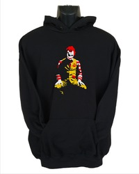 Ronald Mcdonald Joker Mens Hoodie Black (Medium) - Cover