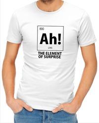 Ah! the Element of Surprise Mens T-Shirt White (Medium) - Cover