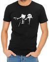 Pulp Fiction Adventure Time Mens T-Shirt Black (X-Large)