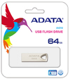 ADATA - UV210 64GB USB 2.0 Flash Drive - Silver