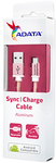 ADATA - 1m Micro USB Sync Charge Cable - Rose/Gold
