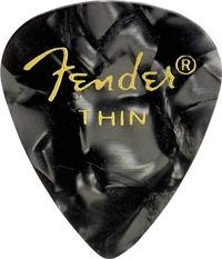Fender 351 Shape Premium Black Moto Thin Pick - Cover