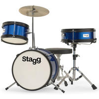 Stagg TIMJR312 BL 3pc 12 Inch Junior Drum Kit Including Hardware and Cymbals (Blue)
