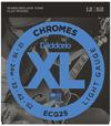 D'Addario ECG25 12-52 Chromes Flat Wound Light Electric Guitar Strings