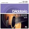 D'Addario EJ13 11-52 80/20 Bronze Custom Light Acoustic Guitar Strings