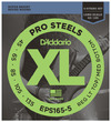 D'Addario EPS165-5 45-135 ProSteel Custom Light Long Scale 5 String Bass Guitar Strings
