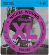 D'Addario EXL120 9-42 Nickel Wound Super Light Electric Guitar Strings