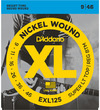 D'Addario EXL125 9-46 Nickel Wound Super Light Top Regular Bottom Electric Guitar Strings