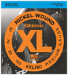 D'Addario EXL160 50-105 Nickel Wound Bass Medium Long Scale 4 String Bass Guitar Strings