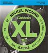D'Addario EXL165 45-105 Nickel Wound Bass Custom Light Long Scale 4 String Bass Guitar Strings