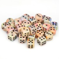 Chessex - 12mm D6 36 Dice Block - Festive Circus with Black - Cover
