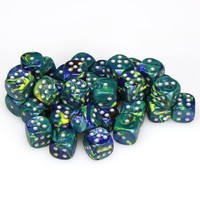 Chessex - 12mm D6 36 Dice Block - Festive Freen with Silver - Cover