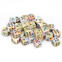 Chessex - 12mm D6 36 Dice Block - Festive Vibrant with Brown - Cover