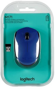 Logitech M171 Wireless Mouse - Blue - Cover