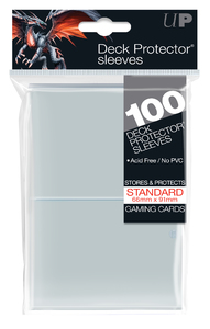 Ultra Pro - Standard Deck Protectors - Clear (100 Sleeves) - Cover