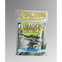 Dragon Shield - Standard Sleeves - Silver (50 Sleeves) - Cover